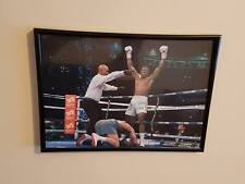 Anthony Joshua vrs Wladimir Klitschko knockdown 2017 A4 260gsm Framed picture