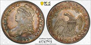 1823 Capped Bust Half Dollar - PCGS AU53 - Overton-112 - Very Pretty Toned Coin