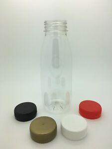 Plastic Juice Bottles 330ml PET with 38mm cap - milk, juice, smoothies Box of 80