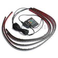 4x RGB LED Strip Under Car Tube Underglow Underbody System Neon Light Kit 12V m