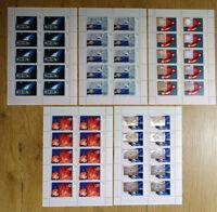 10 x Bund 2077 - 2081 KB postfrisch Kleinbogen BRD Zehnerbogen Der Kosmos 1999