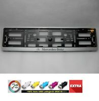 Mercedes Benz (G 2x License Plate I New Plate Holder Car 2* Genuine