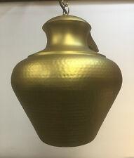 Large Matt Brass Pendant Light Fitting/ Medium Matt Nickel