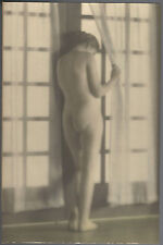 Albert Arthur Allen Vintage Hand Tinted Colored Photo The East Window Nude Woman