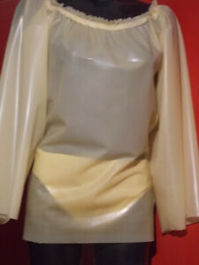 Latex Carmen Hemdchen / Tunika  Milch Transparent