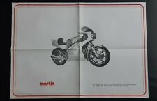 Poster Moto MARTIN Diffusion Châssis année 80'  Prospectus Catalogue Brochure