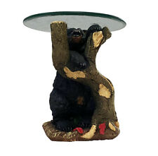 Black Bear Climbing Tree Accent Side Table - End Table