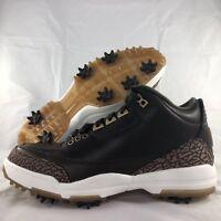 Nike Air Jordan 3 Golf PRM Premium Brown Shoes Cleats AO8952-200 Men's 8.5-9.5