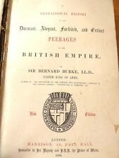 1866 Bernard Burke Genealogical History Peerages Dormant Abeyant Forfeited
