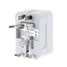 Multi Universal 2 USB Port AC Power Converter World Travel Wall Charger Adapter