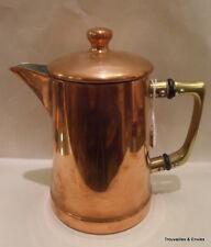 Pot à couvercle en cuivre rouge étamé, n°0,4, Christian Wagner - Rein Kupfeir