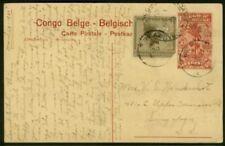Straits Settlements inward 1925 Belgian Congo 30c card