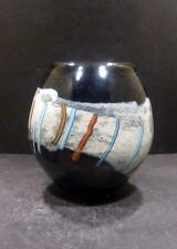 "Studio Art Glass Vase With Modern Design By Judy Vio - 5 1/2"" - MINT"