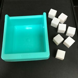 LITTLE TIKES FOOD COUNTRY VICTORIAN KITCHEN ●FRIDGE DRAWER + ICE CUBES TRAY BIN