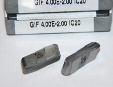 GIF 4.00E-2.00 IC20 ISCAR *** 10 INSERTS ***