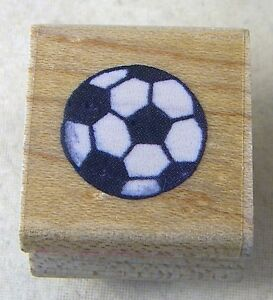 STAMPENDOUS Rubber Stamp Little SOCCER BALL A025 1994 .75 inch