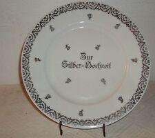 Tirschenreuth  P.r.Teller-Silber Hochzeit mit Tellerhalter-Kuchenteller