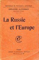 Grégoire Alexinsky = LA RUSSIE ET L'EUROPE