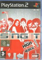 SING IT HIGH SCHOOL MUSICAL Videogioco PS2 Playstation 2 PAL ITA Con Manuale