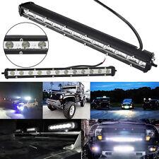 New 36W SPOT SLIM CREE LED Single Row Offroad Work Light Bar ATV UTV SUV 13inch