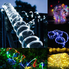 Solar Powered 50/100 LED Strip Rope Lights Fairy String Light Xmas Outdoor Lamp