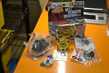 Takara  Metal Beyblade Hell Kerbecs BD145DS with extra parts + Launcher