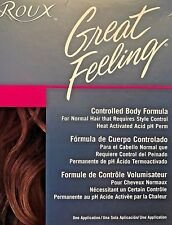 ROUX GREAT FEELING ACID BALANCED PERM WAVE CONTROLLED BODY FORMULA NORMAL HAIR