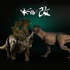 Nanmu 1/35 Sinoceratops VS Carnotaurus Figure Collector Dinosaur Model Toy Gift