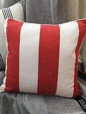 Nautical Striped Newport cushion cover -Beach Look-Zaab Homeware-RED