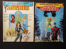 1981 BIZARRE ADVENTURES Magazine #25 FN- #27 FN Black Widow - X-Men