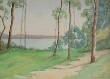 "RONALD H. MOFFAT AUSTRALIAN WC ""SPRING MORNING AROUND THE BAY"" C 1940"