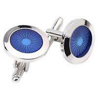 1 Pair Fashion Men's Cufflinks Fashion Round eyes Shirt Cufflinks Cuff Link R5F5