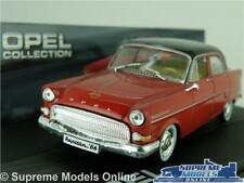 OPEL KAPITAN MODEL CAR 1:43 SCALE RED/BLACK IXO SALOON COLLECTION K8