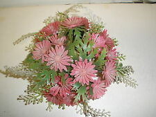 """vintage flower candle ring LITTLE PINK FLOWER Fits 1"""" candle"""