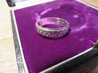 Top 800 Silber Ring Meisterpunze Unisex Designer Kreuze Bandring XXX Edel Chic