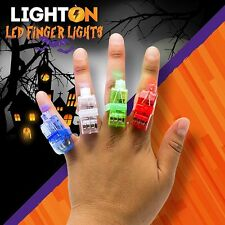 100 Halloween LED Finger Lights by Light On Rave Gear Accessories Fun kids Party