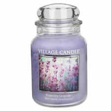 Village Candle Large Jar 26oz 2018 Range Double Wick 170 Hour Burn Time Rosemary Lavender