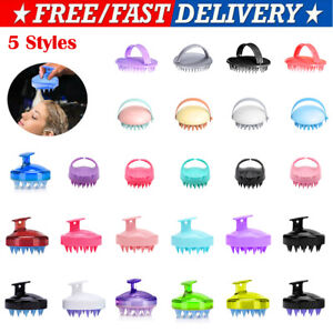 Silicone Shampoo Scalp Shower Body Washing Hair Massage Massager Brush Tool.