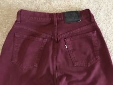 Levi's Silvertab Loose Burgandy Jeans In Jr 5 M