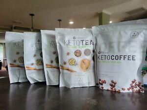 It Works! Keto Tea Spiced Chai Decaffeinated Black Tea Lot of 4 + 1 Keto Coffee