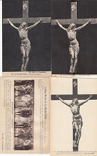 Lot 4 cartes postales anciennes LA CHAISE-DIEU christ