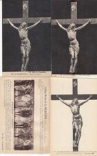 Lot 4 cartes postales anciennes LA CHAISE-DIEU christ