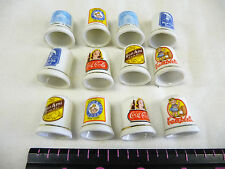 LOT OF 12  SEWING THIMBLES GROUP OF ADVERTISING