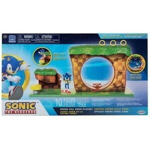 Brand New GREEN HILL ZONE - Sonic The Hedgehog 10 Piece Playset FIGURE INCLUDED