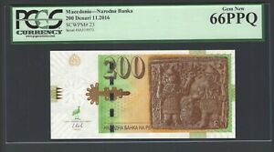 Macedonia - Narodna Banka 200 Denari 11-2016 P23 Uncirculated Graded 66