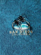 VINTAGE-SAN DIEGO CALIFORNIA PALM TREES BEACH EMBROIDERED -T-SHIRT-XL-RARE