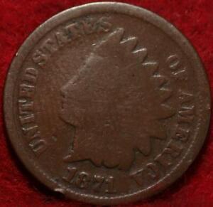 1871 Philadelphia Mint Indian Head Cent