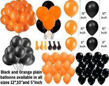 """5 """"/ 10 """"/ 30.5cmBLACK & Orange Uni Latex Ballons pour Halloween Fête Décoration"""