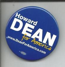 "Rare (2008) Pin: ""HOWARD DEAN For America www.DeanForAmerica.com"" (NH Primary)"