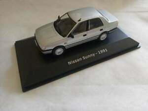 NISSAN SUNNY N14 SEDAN 1/43 OUT OF MARKETS!!booklet of car's history including!!
